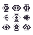 Set of 9 trendy geometric shapes Hipster logotypes vector image vector image