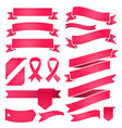 set ribbons and labels retro and vintage vector image vector image