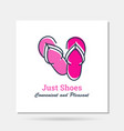 simple company logo example - summer shoes vector image vector image
