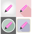 stationery flat icons 09 vector image vector image