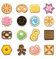 sweet doodle cookies vector image vector image