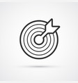 target flat line black icon eps10 vector image