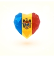 The flag of Moldova in shape diamond glass heart vector image vector image