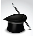 Top hat and cane vector image vector image