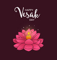 vesak day card hand drawn lotus flower candle vector image vector image