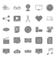 Video silhouettes icons set vector image vector image