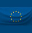 waving national flag of european union vector image