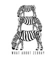 what about zebra hand drawn of vector image