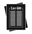 Will icon simple style vector image