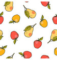 apple and pear seamless pattern vector image