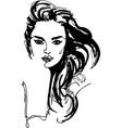 fashion style woman portrait vector image