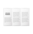 close up of a leaflet blank white paper on white vector image