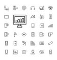 33 phone icons vector image vector image
