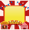 a circus note template vector image