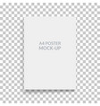 a4 sized mockup of a landscape-oriented magazine vector image vector image