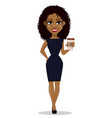african american business woman vector image vector image