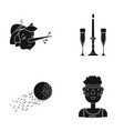 african sport entertainment and other web icon vector image