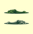 alligator head emerging from water icon vector image vector image