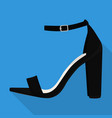 ankle strap shoes woman flat isolated vector image vector image
