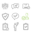 approve linear icons set vector image vector image