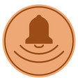 bell ring bronze coin vector image vector image