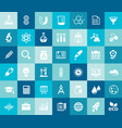 big science icon set trendy flat icons vector image vector image