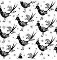 Black and White folk pattern vector image vector image