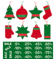 christmas and new year price tags vector image vector image
