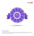 clock icon - purple ribbon banner vector image vector image