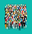 crowd abstract people vector image vector image