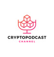 Crypto podcast logo icon for blockchain