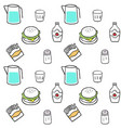 cute seamless pattern fast food vector image
