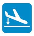 departure landing plane icon simple vector image vector image