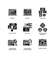 digital marketing icons set 3 vector image vector image