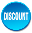 discount blue round flat isolated push button vector image vector image