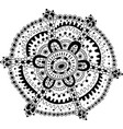 doodle mandala coloring page for adults cartoon vector image vector image