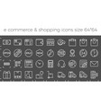 e commerce shopping and delivery icons set vector image vector image