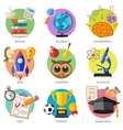 Education Flat Icon Set vector image vector image