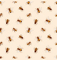 elegant seamless pattern with honey bees on light vector image