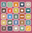 family flat icons on red background vector image