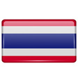 Flags Thailand in the form of a magnet on vector image vector image
