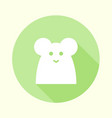 flat pastel green mouse icon vector image vector image