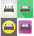 furniture flat icons 06 vector image vector image