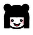 graffiti cute smiling kokeshi icon sprayed vector image