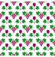 grapes leaves and wine glass pattern vector image