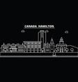 hamilton silhouette skyline canada - hamilton vector image vector image