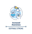 increased awareness concept icon