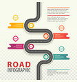 infographic with top view on road with data vector image vector image