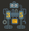 large heavy robot vector image vector image