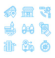 Location Line Icons vector image vector image